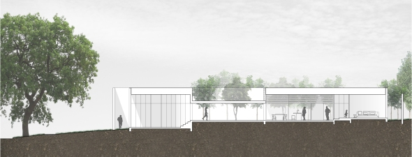studiofour_bourne road residence_longitudinal section